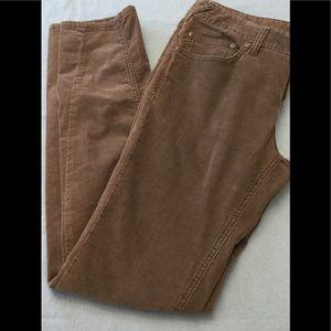 Free People Brown Corduroy Straight Leg Pants